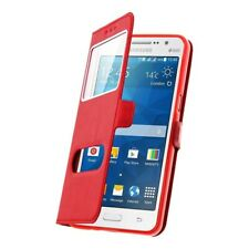 Samsung Galaxy J3 2017, Housse Etui Double Fenetre Rouge