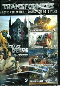 Transformers 5 Movie Collection on DVD - New