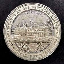 1862 Frankfurt, German Shooting Medal! 41 mm, 25.8 grams.