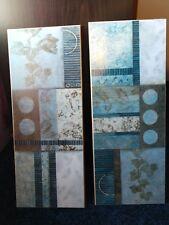 "pictures decoration, set of 2, 8""x20"", excellent condition. Blues & Browns"