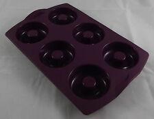 Tupperware DONUT Donuts Mini-Bagel plaque moule Violet Violet Neuf Neuf dans sa boîte