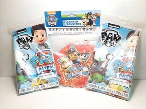 Paw Patrol Birthday Party Set Decorations Tablecloths & Banner New Free Shipping