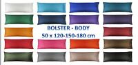 4, 5, 6 Feet BODY BOLSTER Silk LONG Pillow Case Cover Slip Pregnancy Orthopaedic