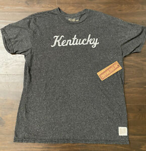 Established with Home Town Original Retro Brand NCAA Gray Distressed T-Shirts