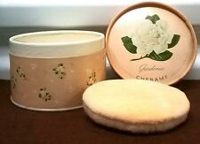 VINTAGE CHERAMY CO. GARDENIA POWDER AND PUFF NEW IN BOX 5 5/6 OZ