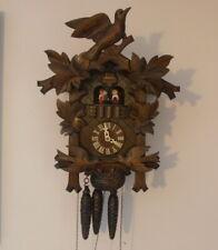 Anton Schneider Musical Cuckoo Clock Birds Black Forest Germany Swiss Movement