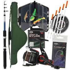 Compact Travel Fishing Telescopic Rod + Reel Set & Carryall Sea Coarse & Tackle