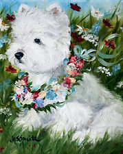 WESTIE SUMMER BREEZES GARDEN FLAG FREE SHIP USA RESCUE