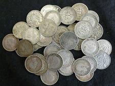 Silver Threepences Bulk Lot Of 40 Presentable 3d's 1920's - 1940's .500 fine