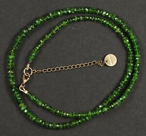 schöne Halskette aus Smaragd Schmuck - Verschluss Silber 925, vergoldet