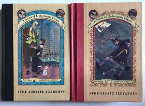 Lemony Snicket x 2 Books 5 6 Ersatz Elevator Austere Academy Hardback Free Post