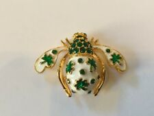 Joan Rivers Four Leaf Clover Bee Pin