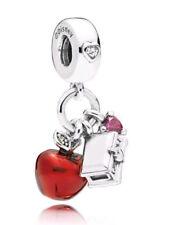 593743af9 2018 Pandora Bead Disney Snow White's Apple & Heart Dangle Charm 797486CZRMX