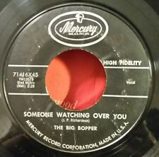 """Big Bopper Mercury 71416 """"SOMEONE WATCHING OVER YOU""""       MAKE AN OFFER"""