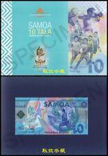 Samoa 10 Tala (2019), Commemorative, Polymer in the folder Lucky No. 8888