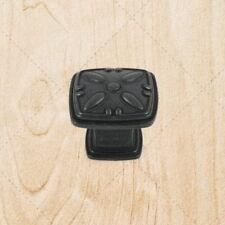 Kitchen Cabinet Hardware Deco Square Knobs ku093 Black Antique pulls