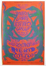 Bill Graham BG 130 Poster: Moby Grape, Jeff Beck at Fillmore West, 1968