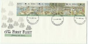 1988 FIRST DAY COVER ISSUE FDC 'THE FIRST FLEET - ARRIVAL' MELBOURNE GPO P'MARK