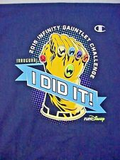 2015 Disneyland Infinity Gauntlet Navy Blue T-Shirt - Adult Large - New