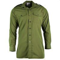 Genuine British army shirt O.D Green Military service long sleeve BDU