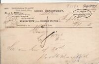 GLASGOW AND SOUTH WESTERN RAILWAY 1899 College Station to Skipton Memo Ref 45128