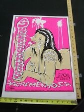 MB/ 2004 Rock Roll Concert Poster Supersuckers Stainboy Sacramento CA S/N#165