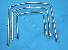 "SET OF 3 Rubber Dam Frame 5"" 4"" 3"" Endodontic Clamp Root Dental Instruments"