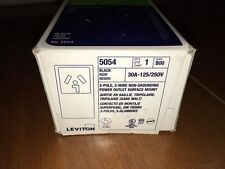 Leviton 5054 - Black 30A 125/250V Outlet Receptacle - 30Amp Surface Mount