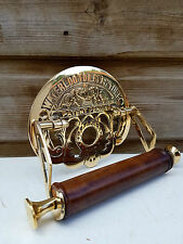Traditional Waterloo Vintage Design Victorian Toilet Roll Holder Solid Brass