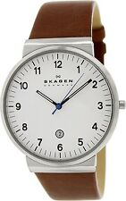 Skagen Men's Ancher SKW6082 Brown Leather Quartz Dress Watch