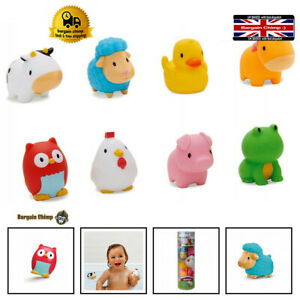 Munchkin Floating Farm Animal Themed Rubber Bath Squirt Toys for Pack of 8