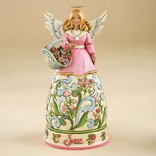 (RETIRED) Jim Shore Birthstone & Flower Of The Month Angels-June