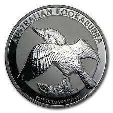 2011 Australia 1 kilo Silver Kookaburra BU - SKU #59007
