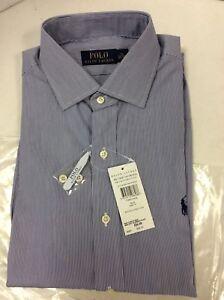 Polo Ralph Lauren Regent Mens Long Sleeve Fine Stripe Shirt, Size 16 (40-41)