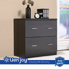 Black Lateral Melamine Board File Cabinet Drawers for Home Office Furniture