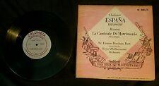 """Chabrier Espana Rhapsody 10"""" LP Rossini La Cambiale Di Matrimonio Columbia"""