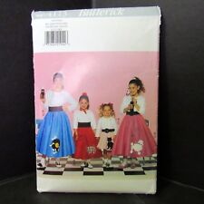 Butterick Poodle Skirt Sewing Pattern Halloween Costume Uncut FF All Sizes Girls