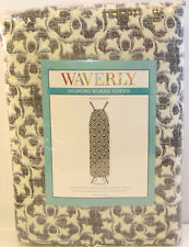 Waverly Padded Ironing Board Cover Fits 54 x 15 Courtyard Black Grey Ivory - New