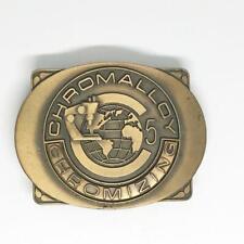 Vintage Chromalloy Chromizing Brass Belt Buckle