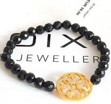 GOOIX Silber 925 vergoldet Damen Armkette Armband Achat schwarz 916-05421 NEU 67