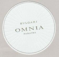 Carte  à parfumer    - perfume card  -  Omnia Noir  Bvlgari