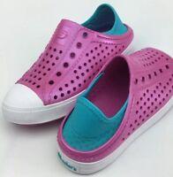 Skechers Girls Slip On Shoes Sneakers Guzman Steps Hot Pink Rubber Sz 2