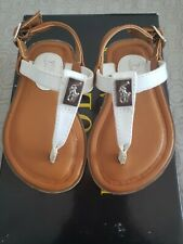 polo ralph lauren toddler sandals white gala size 4