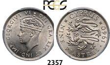 PegasusAuctions_com: 2357. Cyprus, George VI, 9 Piastres 1940, PCGS MS62