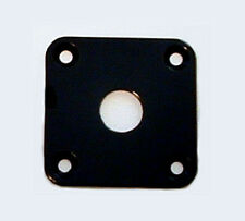 Guitar Hardware - JACK PLATE Flat Flush SQUARE - BLACK
