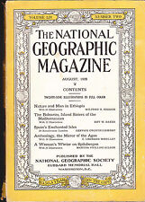 National Geographic August 1928 Ethiopia Balearics Spitsbergen  FREE US S/H