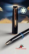 Mont Blanc Fountain Pen No 32 Piston Filler 585 Functional Black Gold Ex Con A22