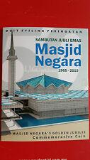 2015 Malaysia 50th Anniversary Of Masjid Negara Nordic Gold ( B.U ) Coin Card