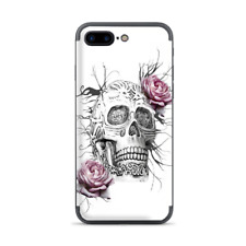 Apple iPhone 7 / 8 Plus Skins Decal Wrap Roses in Skull