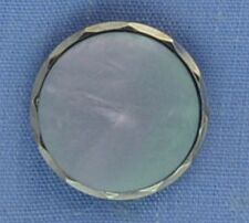 15mm Blue / Silver Shank Button
